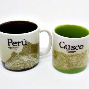 2 Starbucks Demitasse Espresso Cups Peru & Cusco